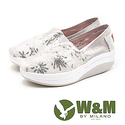 W&M(女) BOUNCE系列 煙花爛漫 透氣增高厚底鞋-銀(另有金)