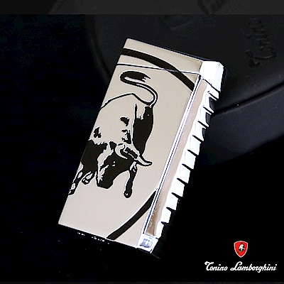 藍寶堅尼Tonino Lamborghini IL TORO LIGHTER打火機(銀黑)