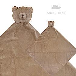 美國 Angel Dear 大頭動物嬰兒毛毯禮盒版 (棕色小熊)