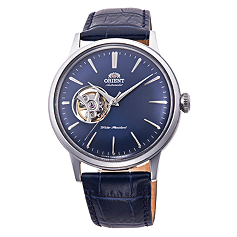 ORIENT 紳藍品味自動上鍊鏤空機械男錶(RA-AG0005L10B)-藍/40mm