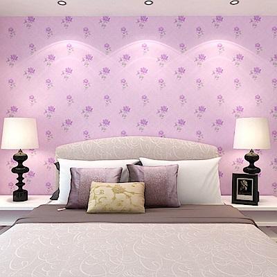 半島良品 防水PVC自黏牆紙45x200cm-粉色芙蓉