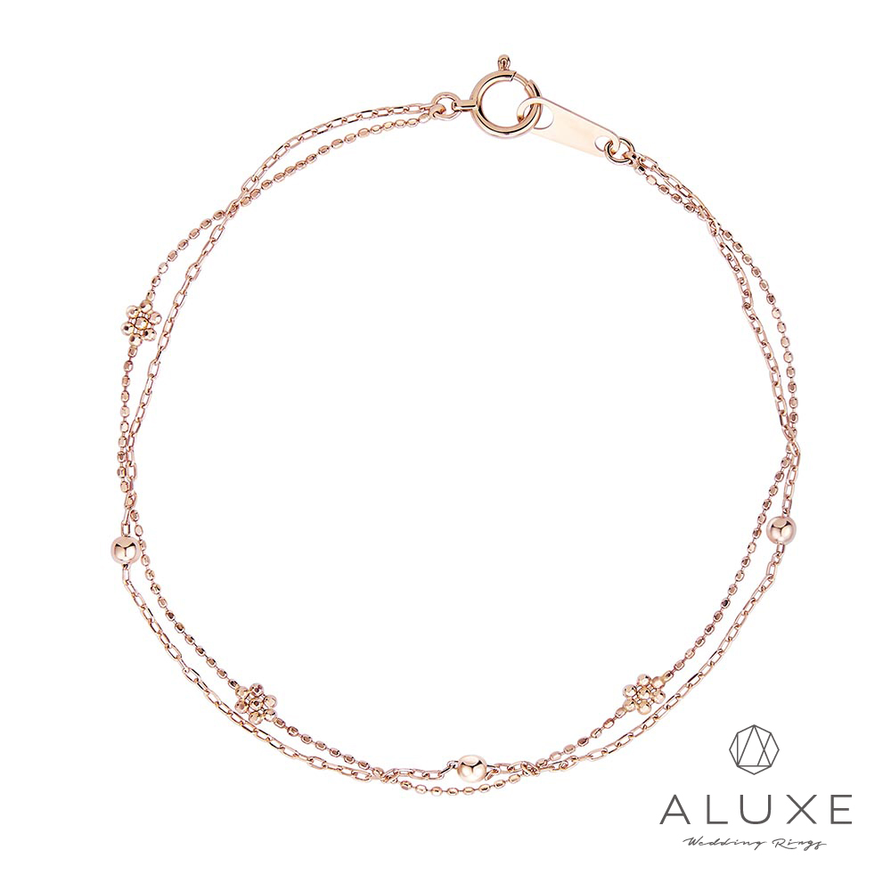 ALUXE亞立詩18K金 Flora雙層光珠手鍊