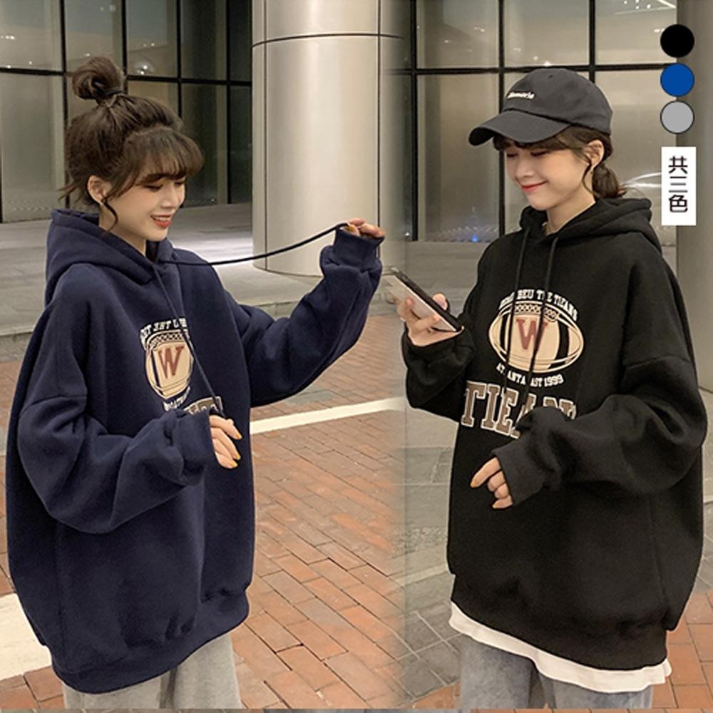 【韓國K.W.】(預購)時尚穿搭休閒連帽上衣