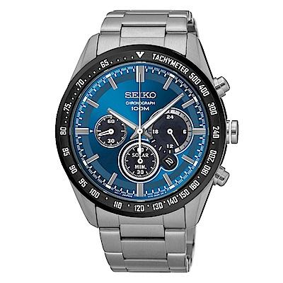 SEIKO Criteria時尚率性太陽能計時腕錶(SSC465P1)