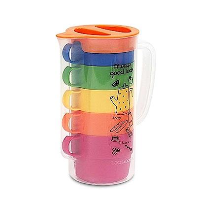 樂扣樂扣 P&Q彩虹疊疊樂咖啡杯5件組(快)