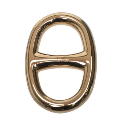 HERMES 經典豬鼻子LOGO絲巾釦環(金)
