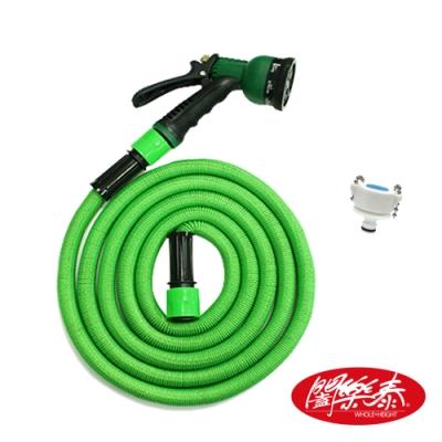 《闔樂泰》高壓魔術彈力伸縮水管1入組 / 加壓最長9公尺( 澆花洗車 / 加壓水管 )