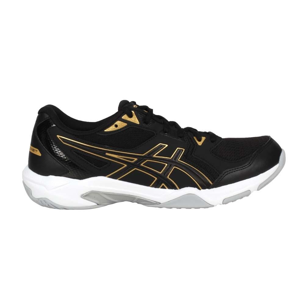 ASICS GEL-ROCKET 10 男排羽球鞋-排球 羽毛球 亞瑟士 1071A054-002 黑金