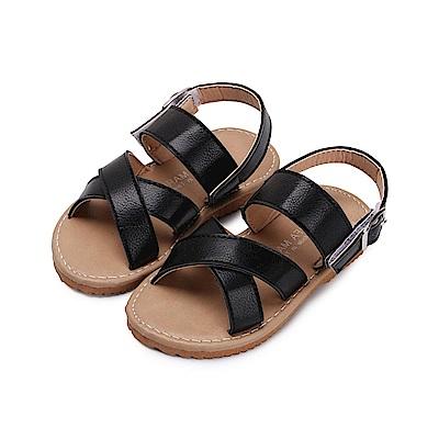 BuyGlasses 簡約夏日兒童涼鞋-黑