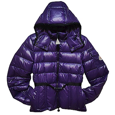 MONCLER GRENADILLE 品牌羽絨車縫連帽紫色羽絨外套(女款)