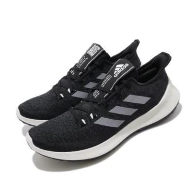 adidas 慢跑鞋 SenseBOUNCE 運動 男鞋 愛迪達 路跑 避震 透氣 舒適 健身 黑 灰