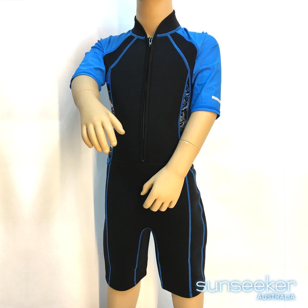 澳洲Sunseeker泳裝男童短袖衝浪連身專業潛水防寒衣