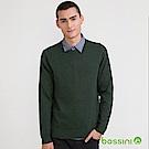 bossini男裝-圓領針織線衫01青綠