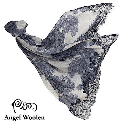【Angel Woolen】幻麗風采 印度手工蕾絲披肩-幻麗藍