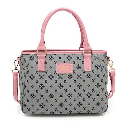 PLAYBOY- 手提包附長背帶  Kaleidoscope - 萬花筒系列 -粉色