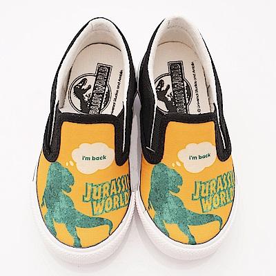 侏羅紀公園童鞋 恐龍休閒帆布鞋款 EI3653黃(中小童段)