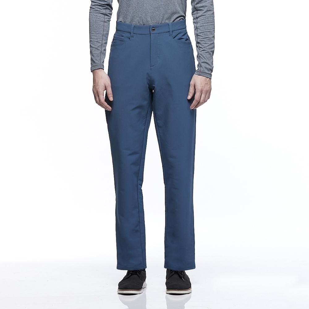 【HAKERS 哈克士】男款 防潑水彈性長褲(夜空藍)