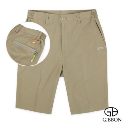 GIBBON 速乾Super Stretch反光燙印運動短褲‧褐色