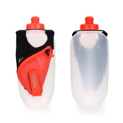 NIKE 輕量跑步手拿水壺20OZ-自行車 慢跑 運動水壺 亮橘黑