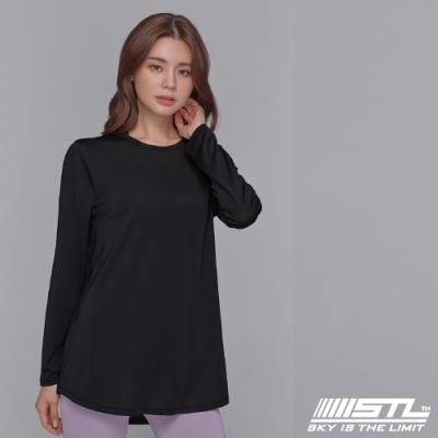 STL yoga ESSENCE HipCover loosefit LS 韓國瑜珈 運動機能 本質蓋臀長版寬鬆長袖上衣 黑 Black