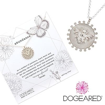 Dogeared Abundance Bee 女王蜂幸運錢幣項鍊 銀色 美麗富足智慧