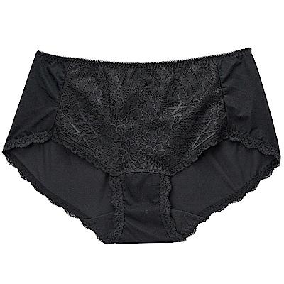 華歌爾-摩奇X挺魔力 M-LL 中腰平口褲(黑)透氣包臀