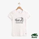 女裝Roots-立體刺繡結粒紗短袖T恤-白