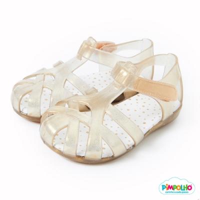 Pimpolho 果凍編織小童鞋-貝殼金