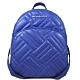 MICHAEL KORS Abbey 銀字Logo绗縫羊皮前口袋雙肩後背包(寶石藍) product thumbnail 1