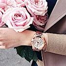 Relax Time 時尚達人日曆顯示腕錶-銀x玫塊金/38mm R0800-16-32