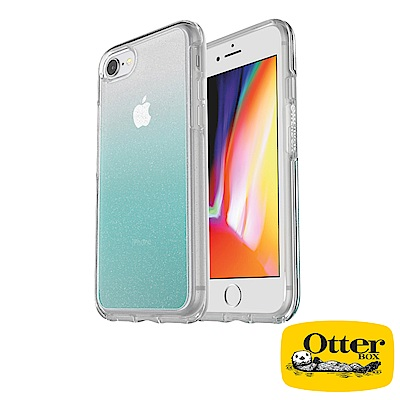 OtterBox iPhone7 / iPhone8炫彩幾何透明保護殼-漸層透藍