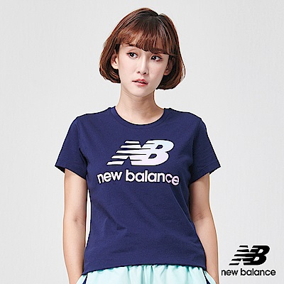 New Balance粉彩Logo短袖T恤AWT91576PGM_女深藍