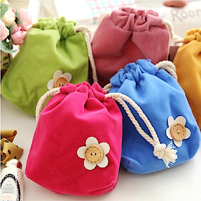 香草花園 韓版糖果色繽紛束口袋/收納袋/零錢袋/禮物袋(隨機出貨)