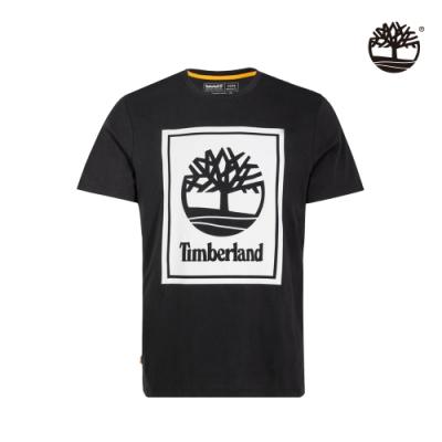 Timberland 男款黑色大樹印花有機棉短袖圓領T恤 A2AJ1