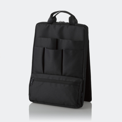ELECOM 站立收納袋中袋(直式)-黑