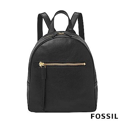 FOSSIL MEGAN 黑色真皮迷你背包