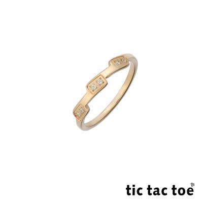 tic tac toe 白鋼戒指 玫瑰金鋯石戒指 TO-X20897