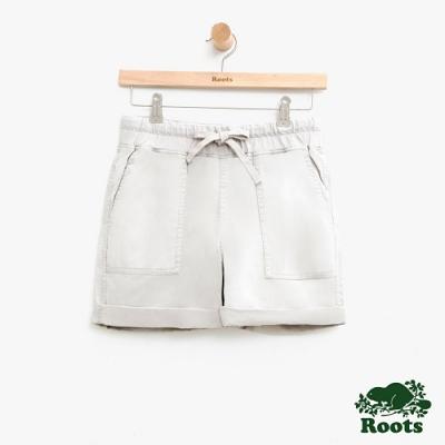 女裝Roots 平織口袋短褲-白