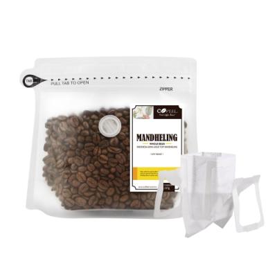 CoFeel 凱飛鮮烘豆黃金曼特寧中深烘焙咖啡豆半磅+濾掛咖啡袋20入食品級濾紙
