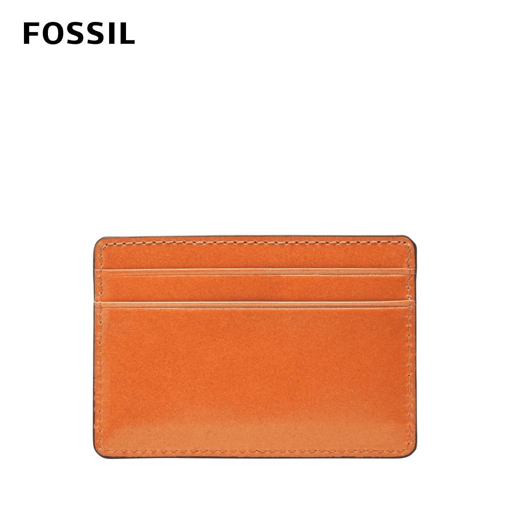 FOSSIL  Benedict 亮皮質感卡夾-柑橘色 ML4302800