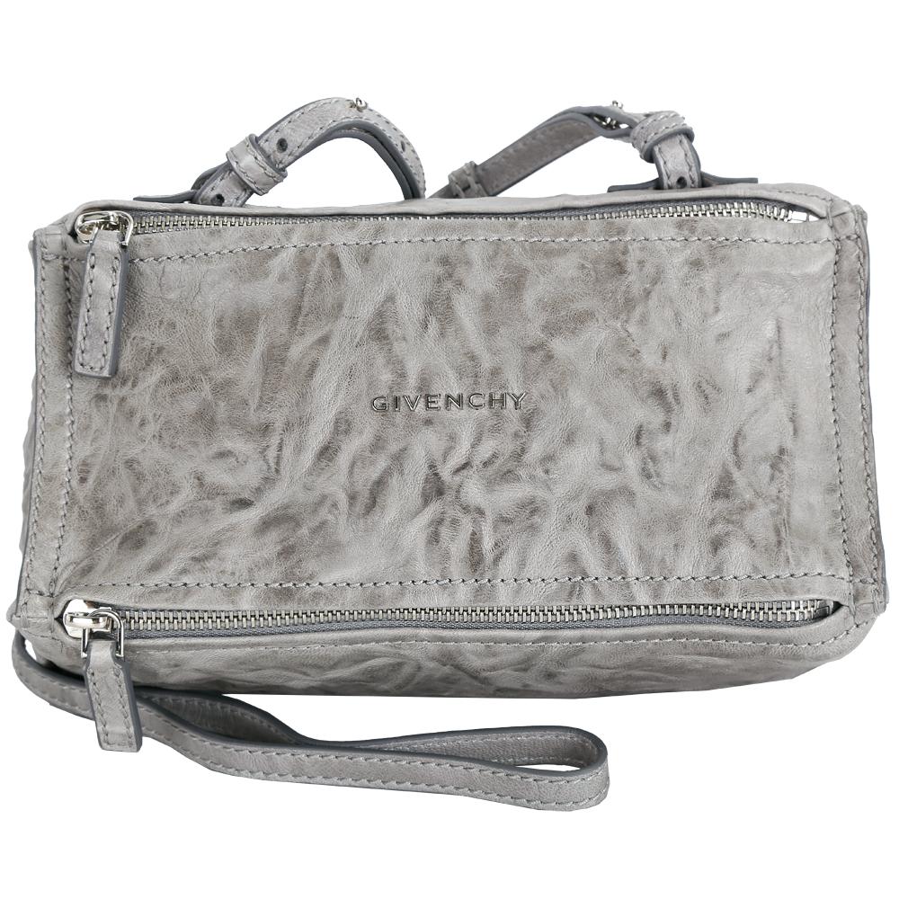 GIVENCHY Pandora 綿羊皮鞣製迷你斜背包(灰色)