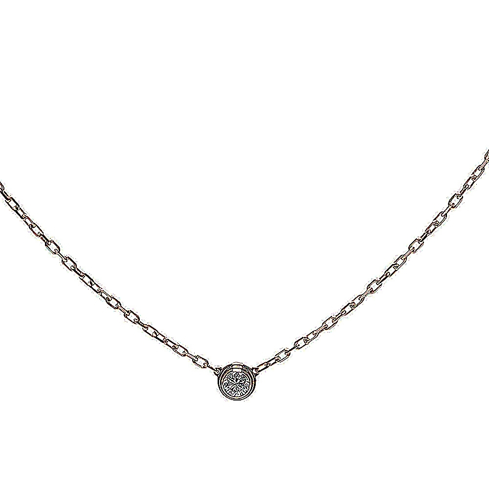 Cartier DIAMANTS LÉGERS系列鑽石項鍊(小-玫瑰金)