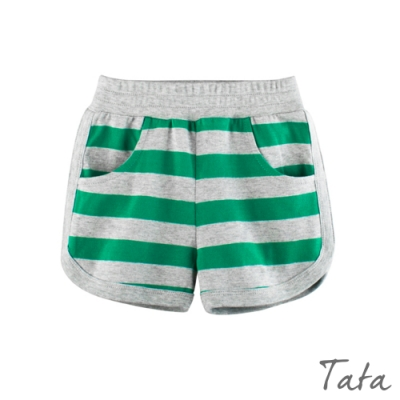 兒童 條紋運動短棉褲 TATA KIDS