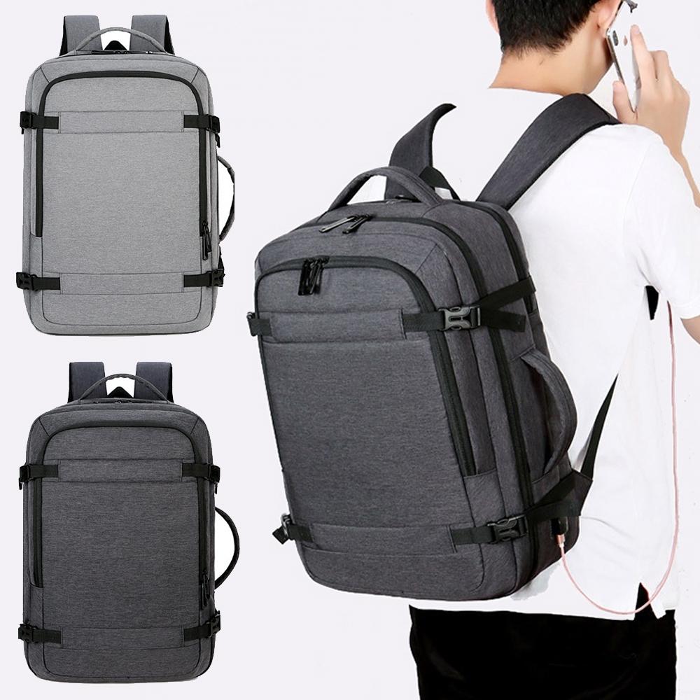 【優貝選】時尚型男防潑水多用途電腦包 差旅包 後背包