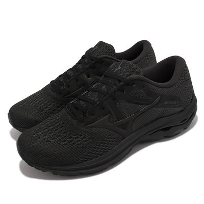 Mizuno 慢跑鞋 Wave Inspire 17 男鞋 美津濃 輕量 高避震 支撐 平穩 膠底 黑 灰 J1GC2144-09