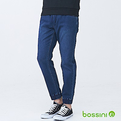 bossini男裝-束口牛仔褲01深靛藍