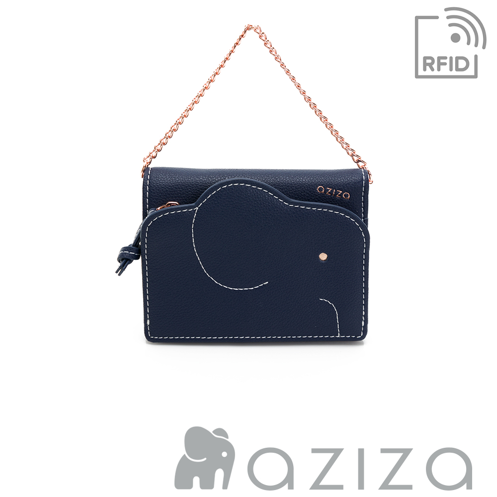 aziza 可拆式鍊帶短夾 深藍 product image 1