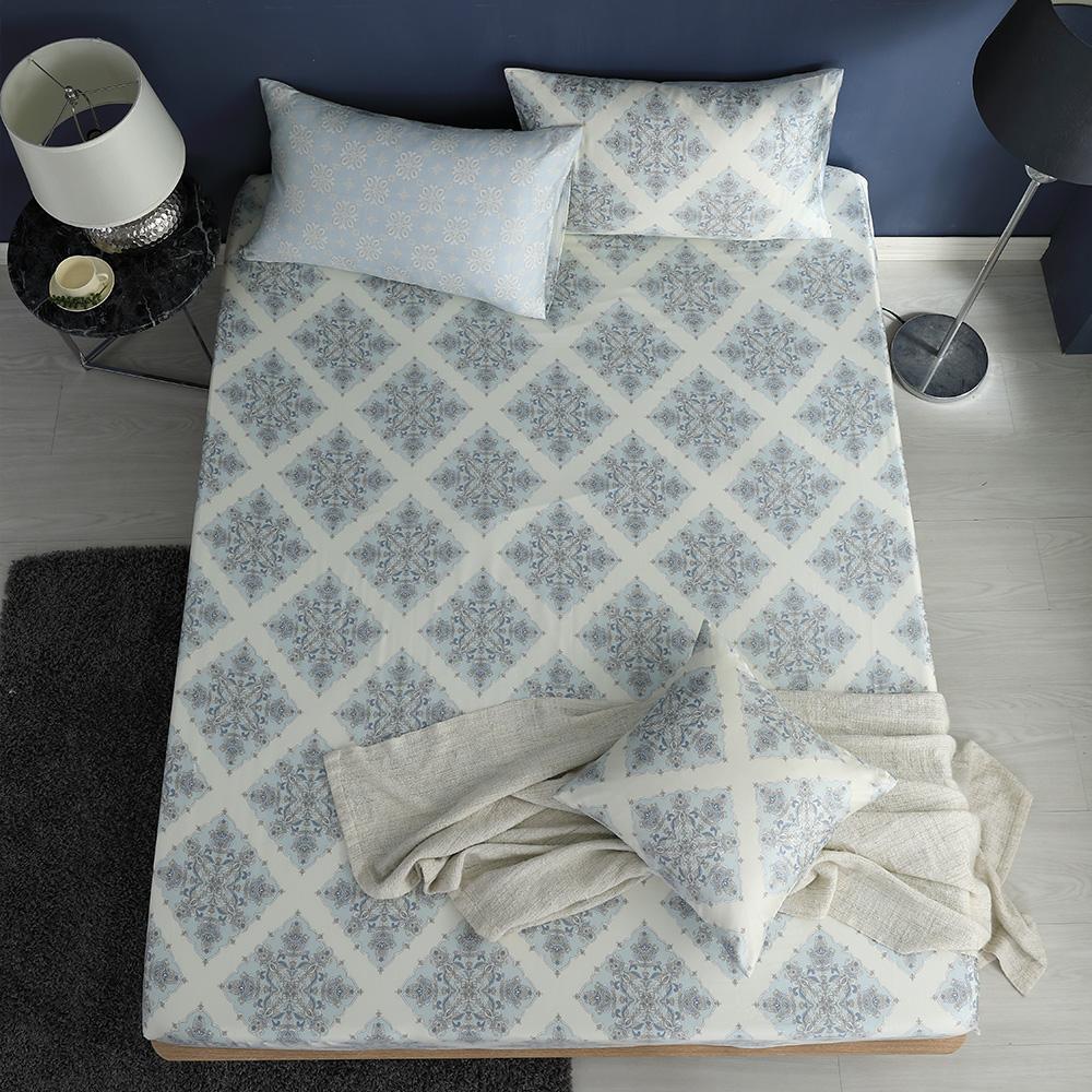 LASOL睡眠屋-100%奧地利天絲 加大床包枕套三件組230織 風花雪月