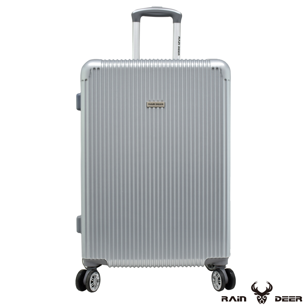RAIN DEER 簡單唇色28吋PC+ABS行李箱-鈦金銀