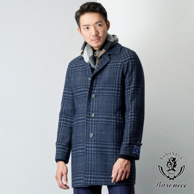 BARONECE 百諾禮士 商務型男羊毛大衣_藍(400372-24)